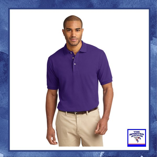 •TALL• Heavy Cotton Pique Polo – Choose your logo