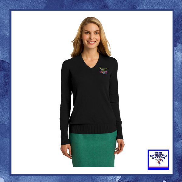 •NEW• Ladies V-Neck Sweater – Choose your logo