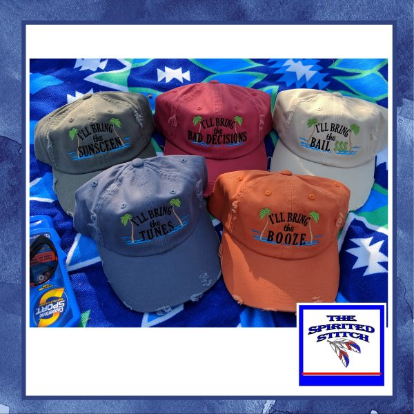 Sassy Beach Hats – I'll Bring the…Choose your color and design