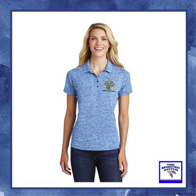Ladies PosiCharge Electric Heather Sporty Polo – Choose your logo