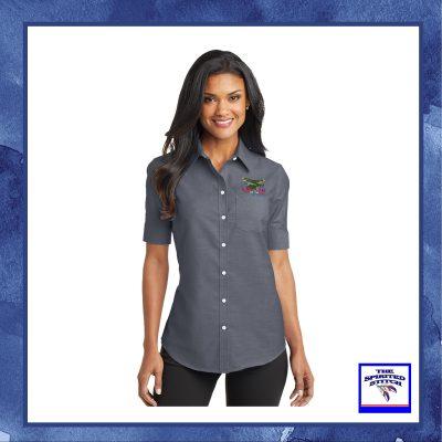 Ladies Short Sleeve SuperPro Oxford Down Shirt – Choose your logo