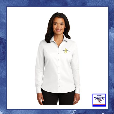Ladies Non-Iron Twill Shirt – Choose your logo