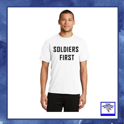 Soldiers First White Short Sleeve T-Shirt – Choose Your Logo