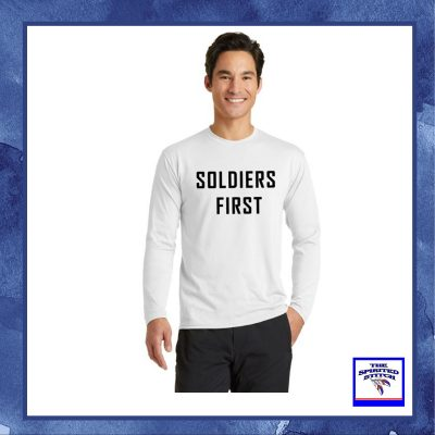 Soldiers First White T-Shirt – Long Sleeve – Choose Your Logo